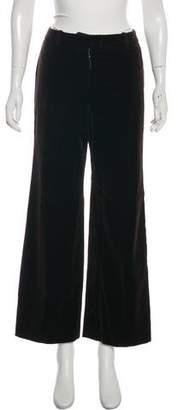 Chloé Velvet Wide-Leg Pants