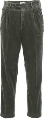 Closed Darted Velvet Trousers