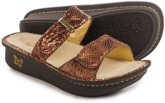 Alegria Karmen Sandals - Metallic Leather (For Women) $49.99 thestylecure.com