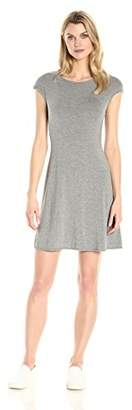 Tiana B Women's Solid A-line Rayon Spandex Dress with Cap Sleeves