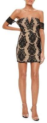 Missguided Floral Lace Mini Dress