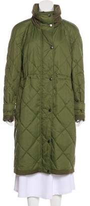 Burberry Quilted Long Coat