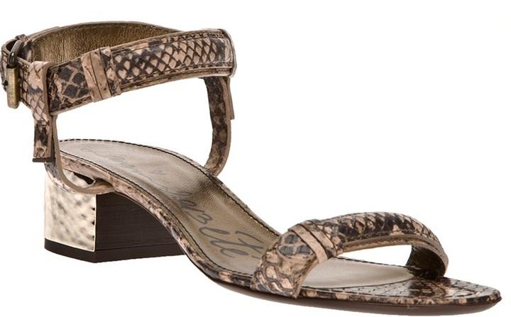 Lanvin metallic heel strap sandal