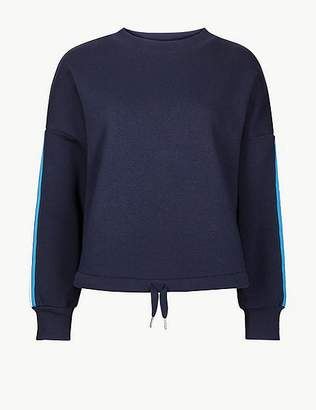 Marks and Spencer Cotton Rich Tie Waist Sweatshirt
