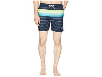 Original Penguin Engineered Stripe Elastic Trunk Men's Swimwear
