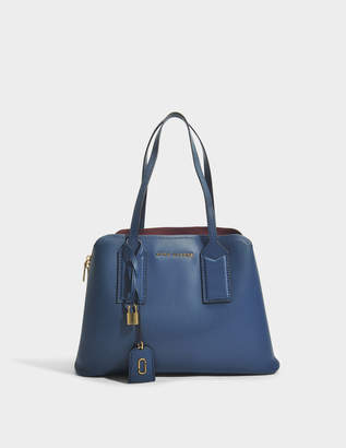 Marc Jacobs The Editor Bag in Blue Sea Split Cow Leather with Polyurethane Coating