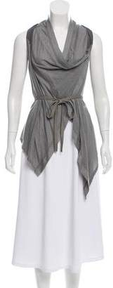 Helmut Lang Silk Accented Sleeveless Vest