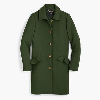 J.Crew Tall topcoat with ruffle pockets in Italian double cloth wool
