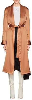Off-White Women's Satin Belted Robe Coat
