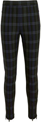 Alexander Wang Zip Detail Plaid Leggings