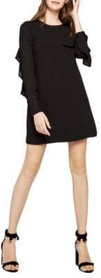 BCBGeneration Ruffle-Accented Shift Dress