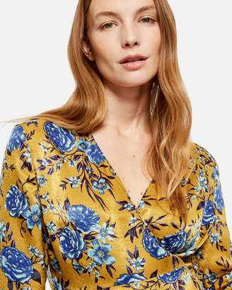 MATERNITY Floral Wrap Top