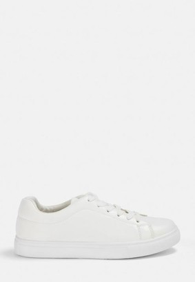 Missguided Solid Colour Lace Up Trainers