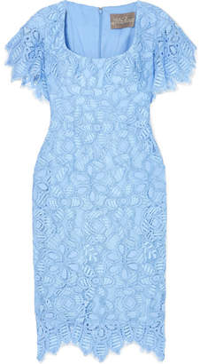 Lela Rose Corded Lace Dress - Sky blue
