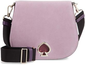 Kate Spade Large Suzy Suede & Leather Saddle Bag