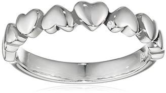 N. Elements Silver Sterling Silver Oxidised Multi Heart Ring - Size O