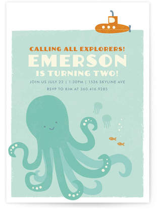 Buy Underwater Explorer Children's Birthday Party Invitations!