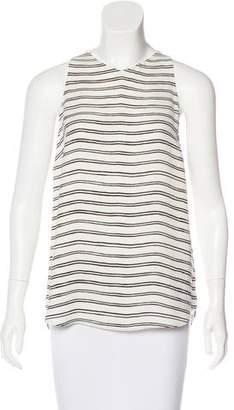 A.L.C. Striped Silk Top