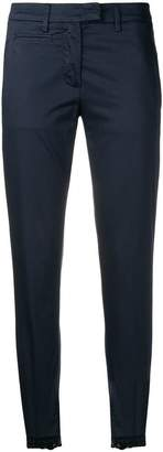 Dondup navy skinny trousers