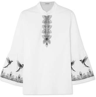 Vilshenko Maisie Embroidered Cotton-blend Blouse - White