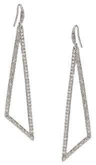 ABS by Allen Schwartz Pave Triangle Drop Earrings
