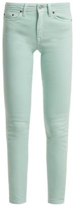 Acne Studios Climb High Rise Skinny Leg Jeans - Womens - Teal