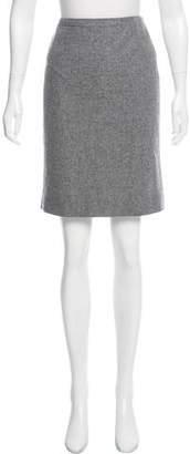 Balenciaga Knee-Length Wool Skirt