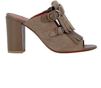 Santoni Sand Leather/suede Sandals