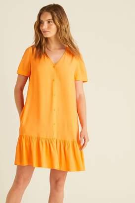 Oliver Bonas Womens Vibrant Button Through Dress - Orange