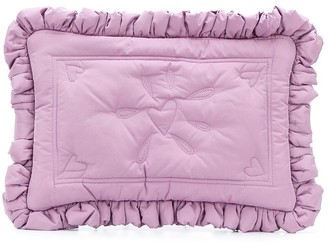 Molly Goddard floral embroidered clutch bag