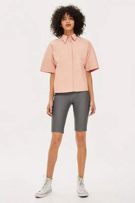 Topshop Womens **Leather Cycling Shorts By Boutique
