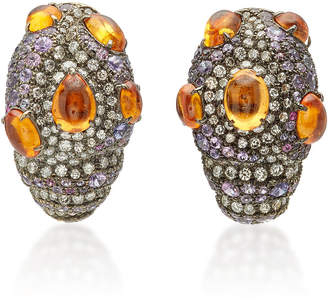 Arunashi One-Of-A-Kind Mandarin Garnet Earrings