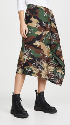 Monse Camo Handkerchief Skirt