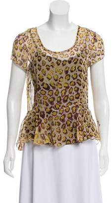 Gryphon Brown Short Sleeve Top