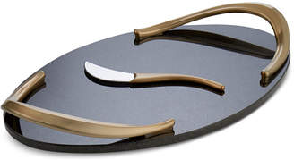 Nambe Eco Serveware Collection 2-Pc. Handled Cheese Board & Knife Set