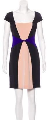 Jay Godfrey Silk Colorblock Dress