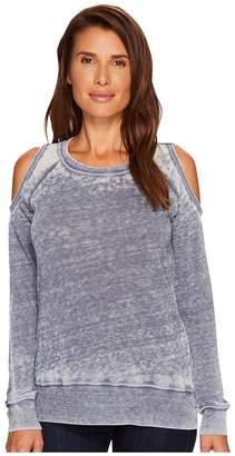 Allen Allen Sweater Cold Shoulder Top Women's Sweater