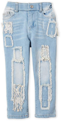 Baby Sara Toddler Girls) Lace Patch Boyfriend Jeans