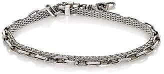 Title of Work Men's Anchor Double-Wrap Bracelet