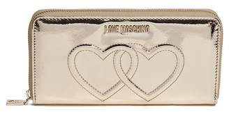 Love Moschino Metallic Embossed Hearts Wallet