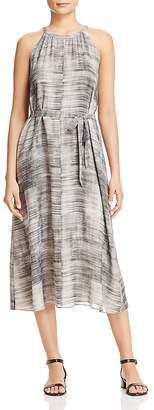 Eileen Fisher Sleeveless Brushstroke-Print Silk Dress