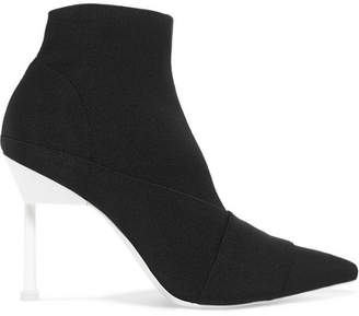 Mercedes Benz Castillo - Stretch-knit Ankle Boots - Black