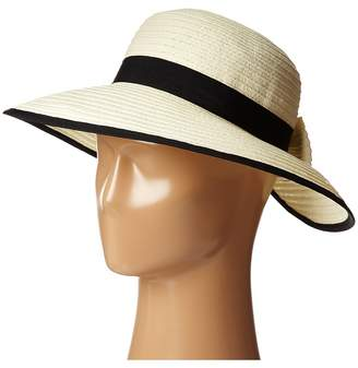 San Diego Hat Company PBM1026 Sunbrim w/ Back Bow and Contrast Edging Caps