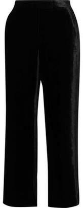 A.L.C. Robbie Cropped Velvet Wide-Leg Pants
