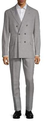 Brunello Cucinelli Check Double-Breasted Suit