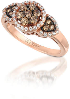 LeVian CORP Grand Sample Sale by Le Vian 5/8 CT. T.W. Vanilla Diamonds & Chocolate Diamonds 14k Strawberry Gold Chocolatier Ring
