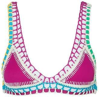 Kiini 'Coco' crochet trim triangle bikini top