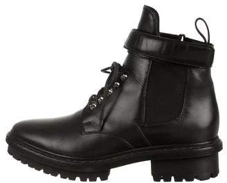Balenciaga Lace-Up Combat Ankle Boots