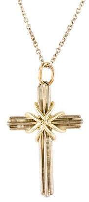 Tiffany & Co. Two-Tone Cross Pendant Necklace