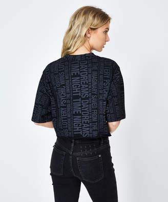 Ksubi Tabloids Cropped T-Shirt Black